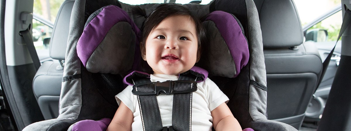 baby in a rear facing car seat