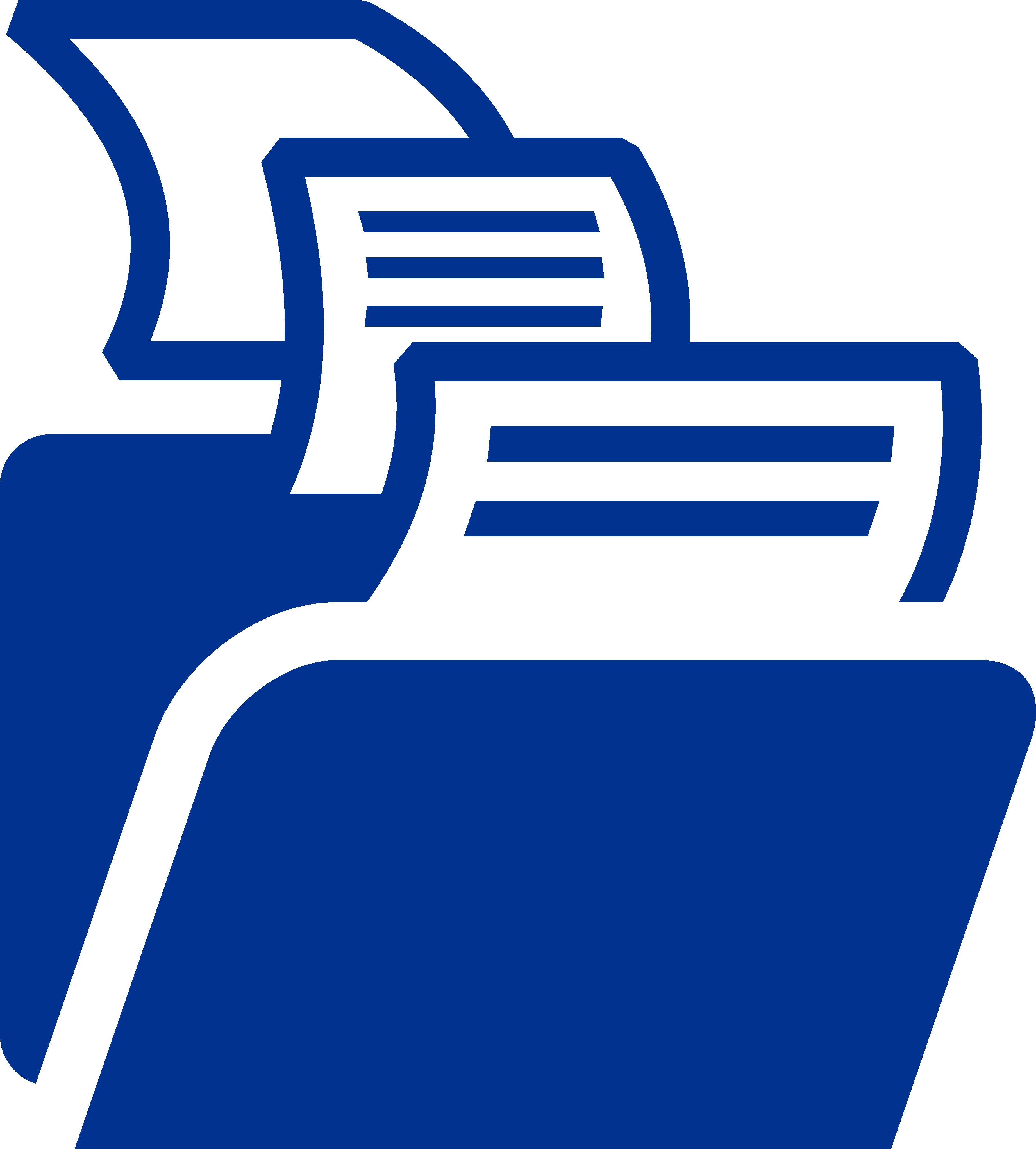 blue file folders icon