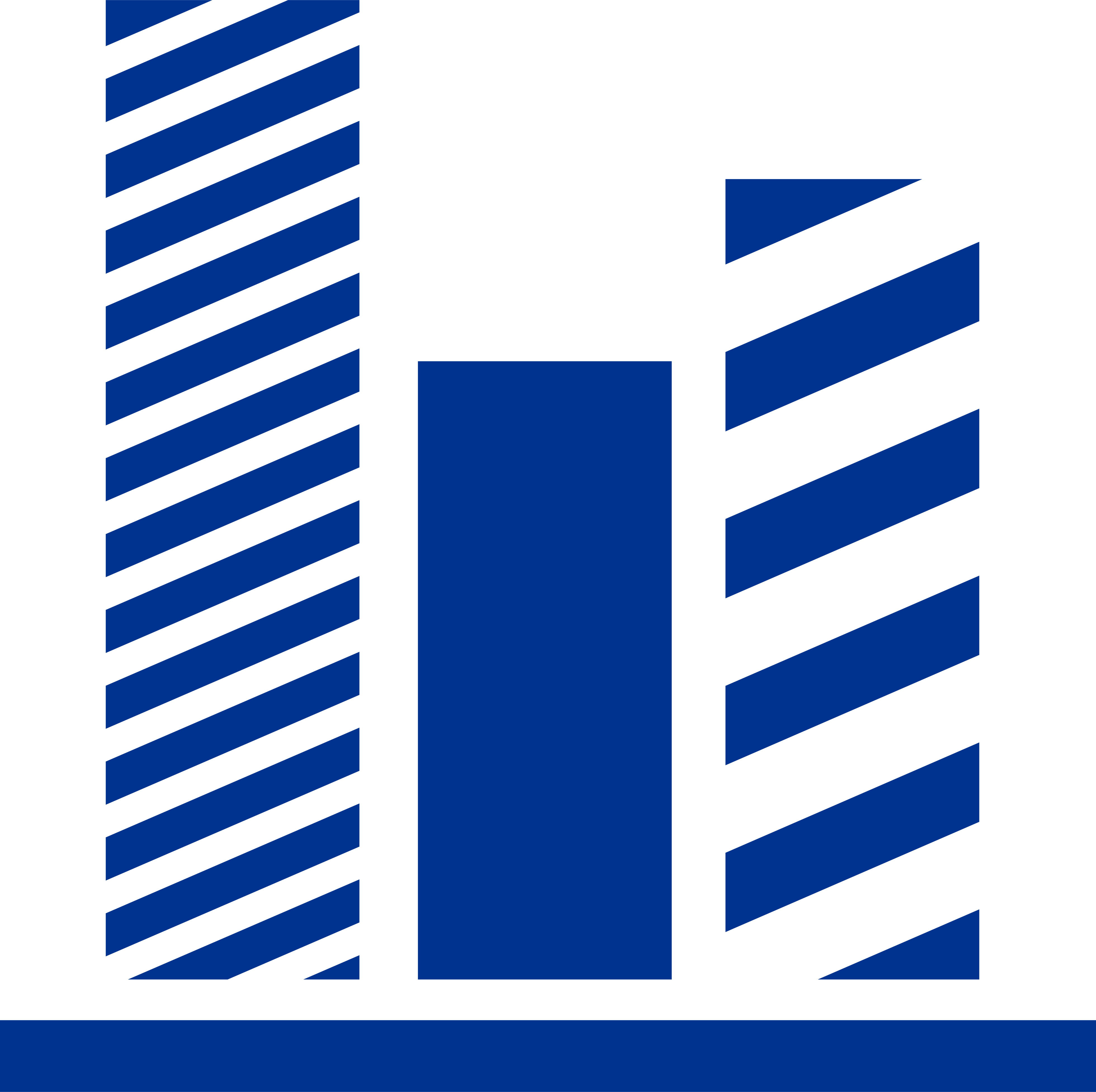 blue icon of a vertical bar chart