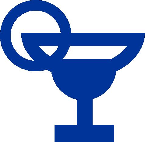 blue martini glass icon