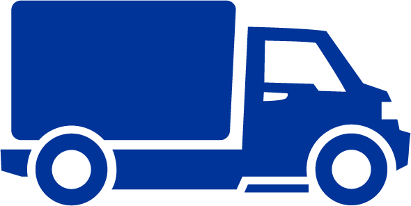 blue delivery truck icon
