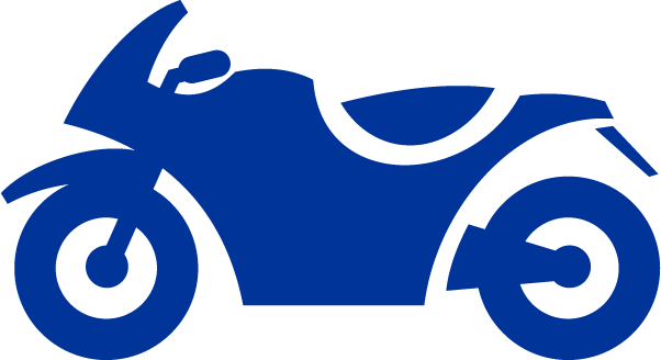 blue motorcycle icon